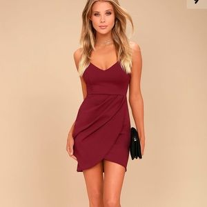 Forever Your Girl Wine Red Bodycon Dress